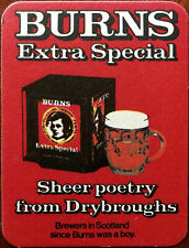 Burns Extra Special Sheer Poetry from Drybroughs Vintage Beer Mat / Coaster