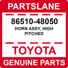 86510-48050 Toyota OEM Genuine HORN ASSY, HIGH PITCHED