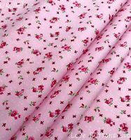 Rose /& Hubble pale mint 100/% cotton rose print floral fabric half//full mtrs /& FQ