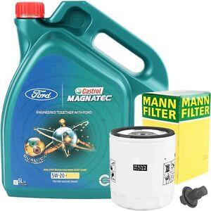 MANN-FILTER ÖLFILTER + 5L CASTROL MAGNATEC PROFESSIONAL 5W-20 Ford WSS-M2C948-B