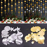 4M Paper Garland Star Circle String Banners For Wedding Party Home Hanging Decor