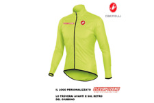 GIUBBINO ANTIVENTO CASTELLI SQUADRA LONG JACKET GIALLO FLOW MANTELLINA  OFFERTA