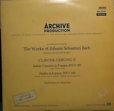 RALPH KIRKPATRICK bach clavier uebung ii LP VG+ ARC 3155 Vinyl 1959 Record