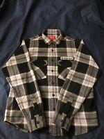 Supreme FW17 God Bless Plaid Flannel Shirt Black - Size Small