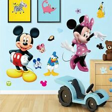 Mickey Mouse Minnie Removable Wall Sticker PVC Mural Decals Kids Nursery Decor