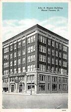 Mount Vernon Illinois John B Rogers Building Exterior Antique Postcard V20384