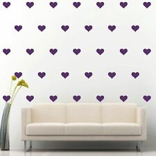 "96 of 3"" Purple Hearts DIY Removable Peel & Stick Wall Vinyl Decal Sticker"