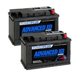 2 X FORD TRANSIT BATTERY 110L XD TYPE  85AH 800 CCA (PAIR)