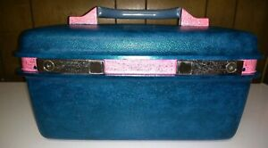 Vintage Samsonite Train Case Luggage w/ Tray And Key Custom painted