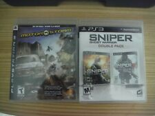 Sniper Ghost Warrior Double Pack Sony PlayStation 3 with Motor Storm