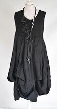 STUNNING GERMAN  CHAMPAGNE LAGENLOOK amazing parachute dress sz XL/XXL BLACK