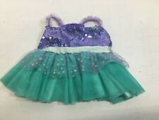 Build-A-Bear Disney Ariel Dress Purple Sequin Turquoise - Bear Not Included
