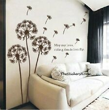 Flying Dandelion Flowers Wall Sticker Art Decal Home Decor Transparent Removable