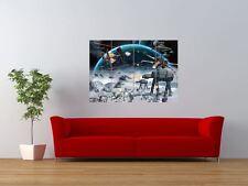STAR WARS EMPIRE STRIKES BACK BATTLE SCENE GIANT ART PRINT PANEL POSTER NOR0643