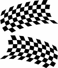 Chequered Flags Rally Motorsport Stock Car Stickers ~4