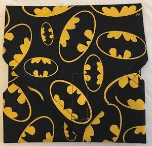 BATMAN PRINT ECO SANDWICH LUNCH SNACK BAG WRAP ~ REUSEABLE ~ UK SELLER
