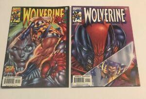 Marvel Comics WOLVERINE #154 & #155 LOT DEADPOOL COVER SET LIEFELD