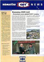 Komatsu News circa 1990