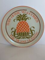 """Lasting Memories Porcelain """"This Home Welcomes""""  6 1/4"""" Plate"""