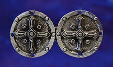 Pewter Rose Buttons 10mm Historical Reenactment Medieval Tudor UK Made