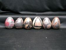 Handcrafted Decorative Eggs with Animals and Symbols-Made In Kenya