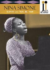 Nina Simone Live in 65 & 68 Jazz Icons Concert Performance Music Video DVD