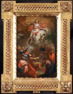 17th CENTURY ITALIAN OLD MASTER OIL ON CANVAS - THE RESURRECTION OF CHRIST