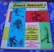 1959 Sports Forecast-Special All Sports Issue-Baseball Football Basketball Fish