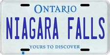 Niagara Falls Ontario Canada Aluminum License Plate