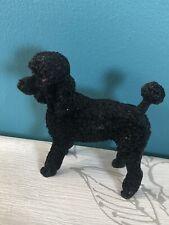 Schöne Vintage Schwarz Pudel Deko Sammelobjekt Hund Figur 12.7cm Hoch