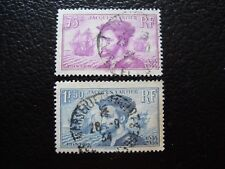 FRANCE - timbre yvert et tellier n° 296 297 obl (A4) stamp french (Z)