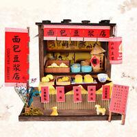 MagiDeal 1/24 Dollhouse Miniature Diorama DIY Kits Chinese Breakfast Bar