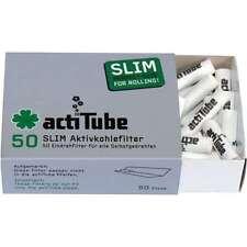 ACTITUBE 250pz 5x50 SLIM FILTRI FILTRINI CARBONI ATTIVI sigaretta 7mm (Tune) g