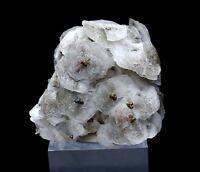 224.4g Natural rare fish scaly calcite & 7colored pyrite mineral specimen/China
