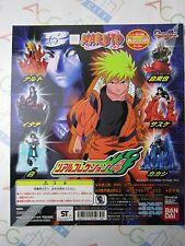 Naruto Real Collection Part 4 Gashapon Toy Machine Paper Card Bandai Japan