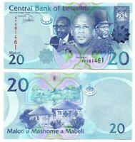LESOTHO 20 Maloti (2013) P-22b UNC Banknote Paper Money