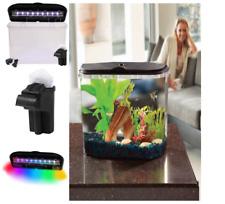 Hawkeye New! Aquarium Kit 5 Gallon Tank Fish Led Light Colors Power Filter Bow