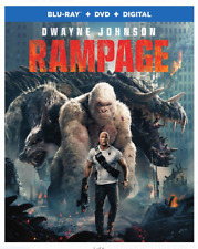 Rampage (Blu-ray, DVD, Digital, Slipcover (See Details) Brand New