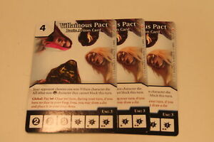 DICE MASTERS - 3X VILLAINOUS PACT - CARD ONLY - PROMO