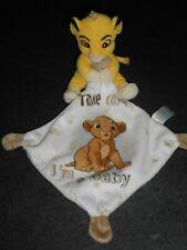 Doudou Simba Roi Lion Mouchoir Blanc Take Care I'M A Baby Disney Nicotoy 2 dispo
