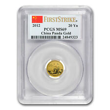 2012 China 1/20 oz Gold Panda MS-69 PCGS (First Strike) - SKU #77111