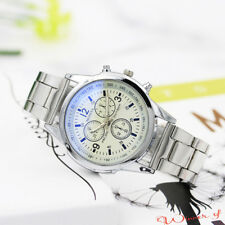 Fashion Luxury Mens Stainless Steel Sport Quartz Analog Hour Wrist Watch Watches