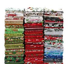 10 Fat Quarters - Christmas Holiday Festive Winter Cotton Fabric Bundle M227.04