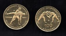 100 drachmas 1999 UNC WRESTLERS, Greek Coin, World Championship, BANK OF GREECE