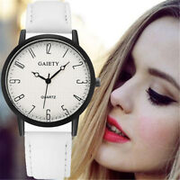 Fashion Women Ladies Casual Wristwatches Leather Band Analog Quartz Dial Watch