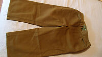 Ralph Lauren Jean Co. Cropped Capri Pants Womens 4 Petite Dark Green New ^