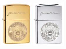 2 Stück Zippo Jim Beam Logo Messing + Chrom Set 60003912 + 60003913 Top Preis