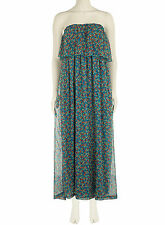 Dorothy Perkins Sugar Reef Blue Strapless Maxi Dress  UK 10 Box12 43 j