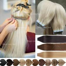 Glatt Tape in on Extensions Echthaar 100% Remy Haarverlängerung Mixfarbe Ombre