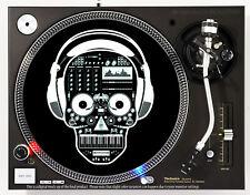DJ SKELETON - DJ SLIPMAT 1200's or any turntable, record player